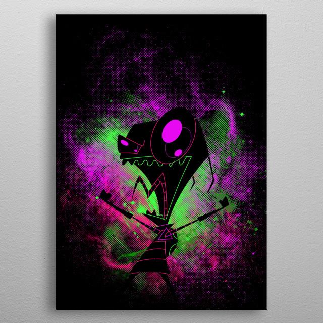 Illustration inspired by Invader Zim metal poster