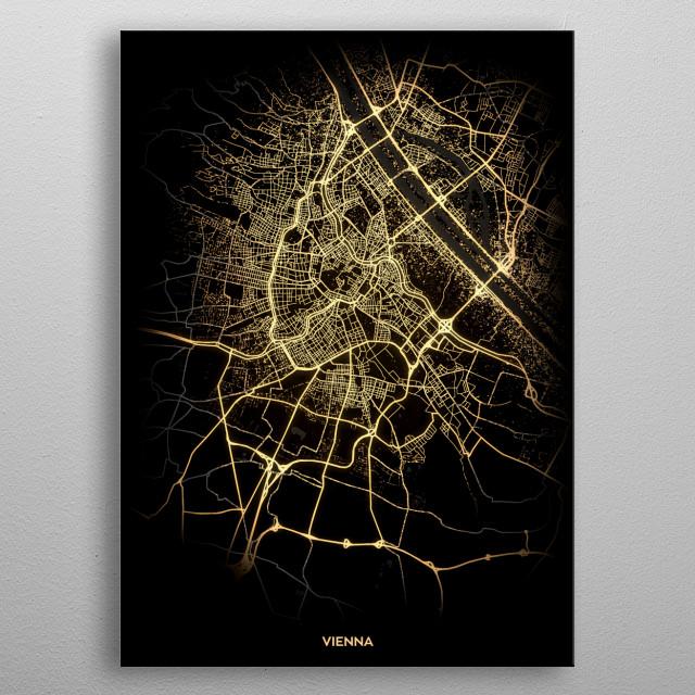 Vienna, Austria metal poster