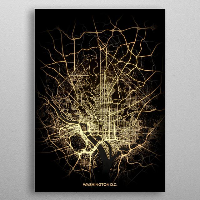 Washington DC, USA metal poster