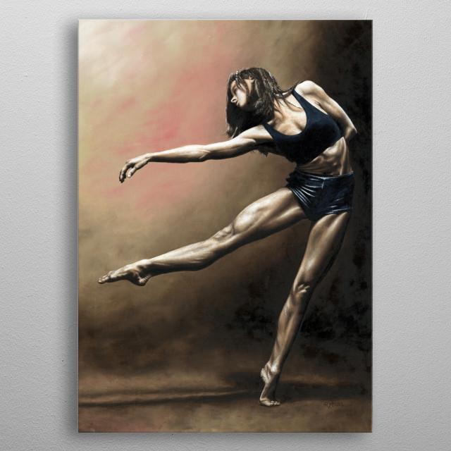 Fine art contemporary ballerina dancer oil painting metal poster