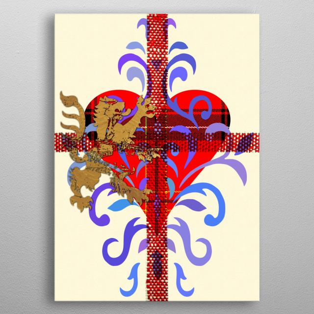 Lion Heart I Frankenberg GraphicWorks, © Frankenberg 2018 metal poster