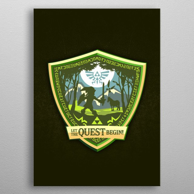 It's dangerous to go alone! Take this metal poster