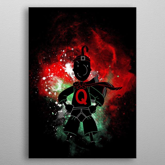 Illustration inspired by Quailman metal poster