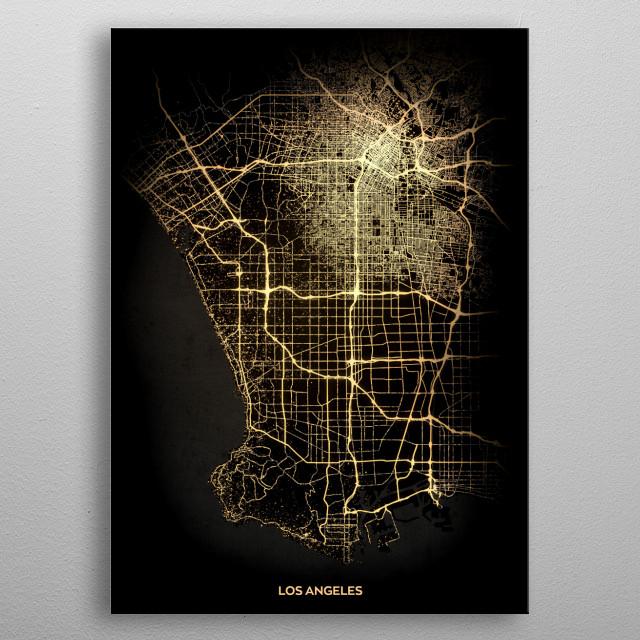 Los Angeles, USA metal poster