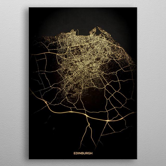 Edinburgh, UK metal poster