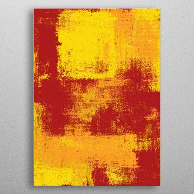 Original abstract expressionist painting by Ron Trickett metal poster