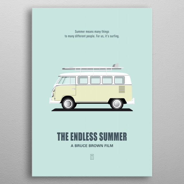 The Endless Summer - Minimalist Movie Poster metal poster