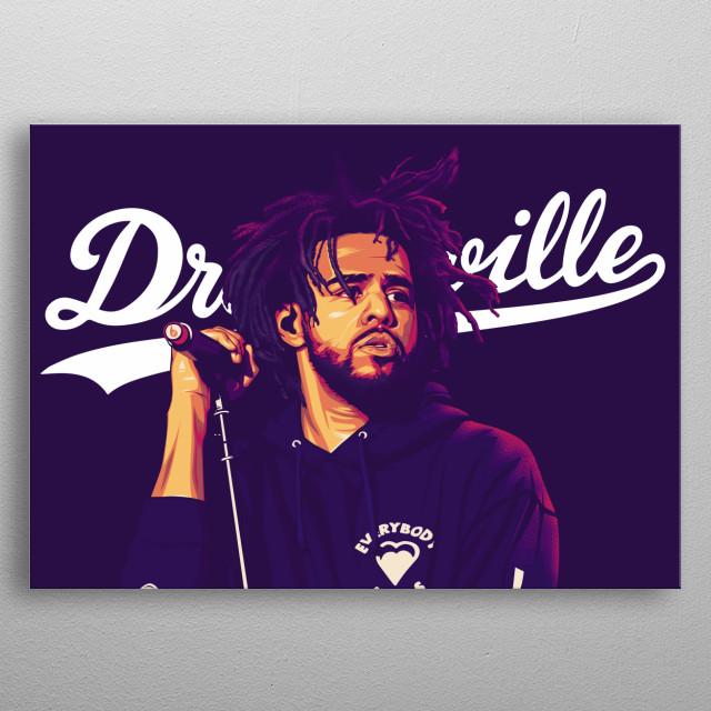 Dreamville Violet metal poster
