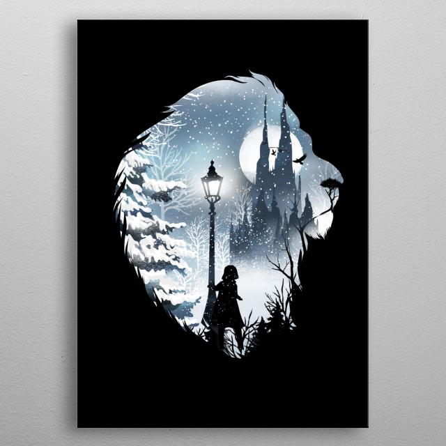 Mystical Winter  metal poster