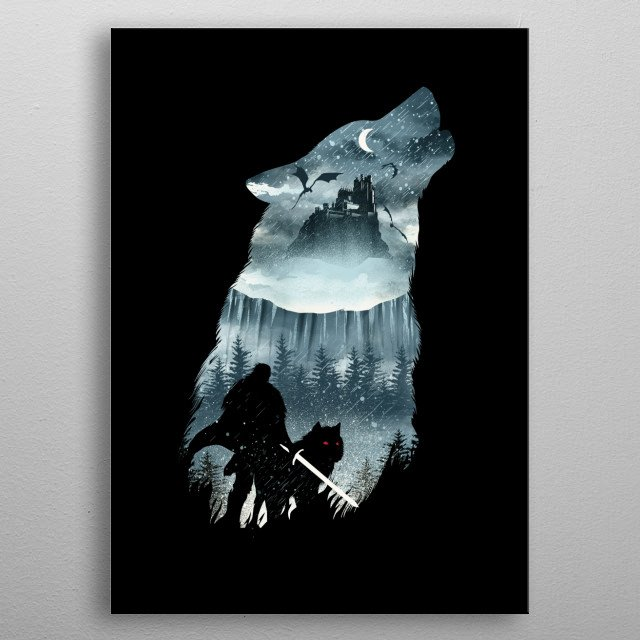 Winter Has Come metal poster