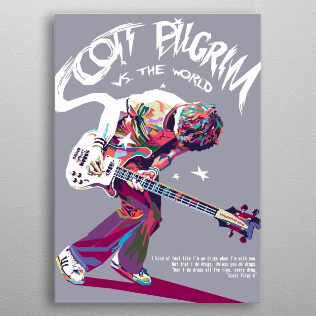 against the world, inspired by the Scott Pilgrim vs. the World movie metal poster