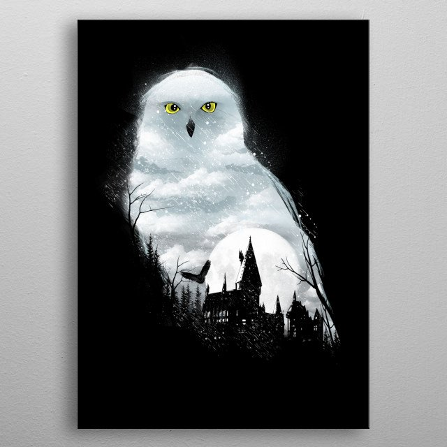 Magical Winter Night metal poster