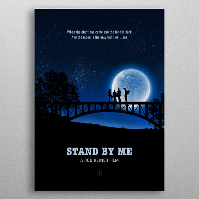 Stand by Me Minimalist Movie Poster metal poster