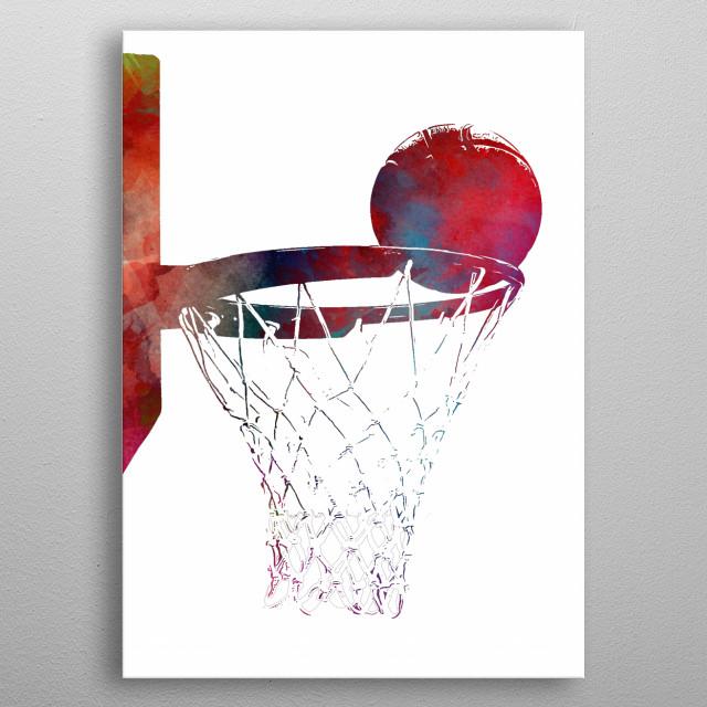 Basketball metal poster