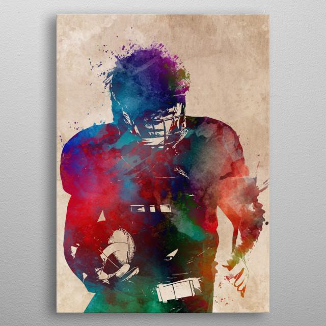 American football player  metal poster