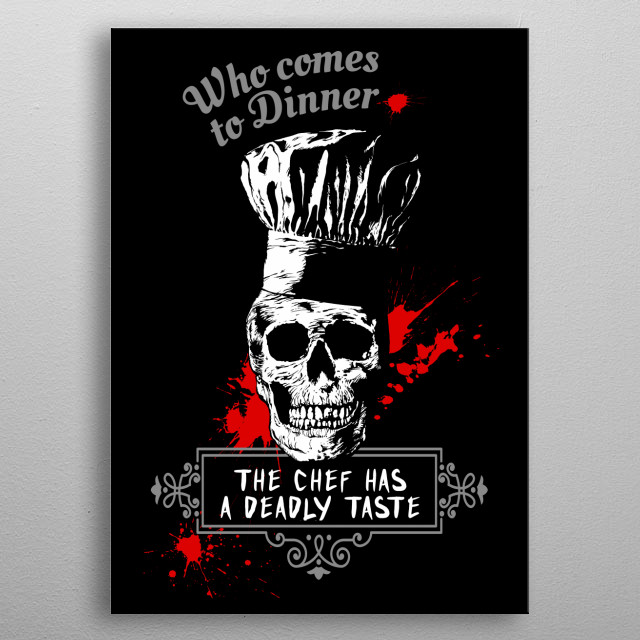 Skull - Who comes to Diner - The chef has a deadly taste - Pop  culture metal poster