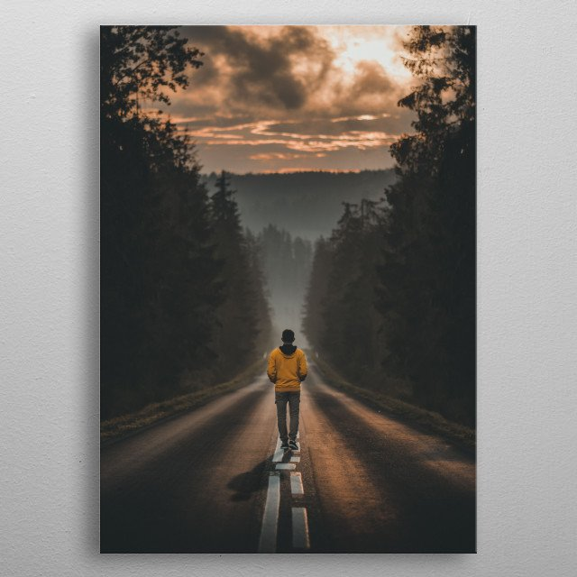 A stunning sunrise in Tatra mountains in Poland.  metal poster