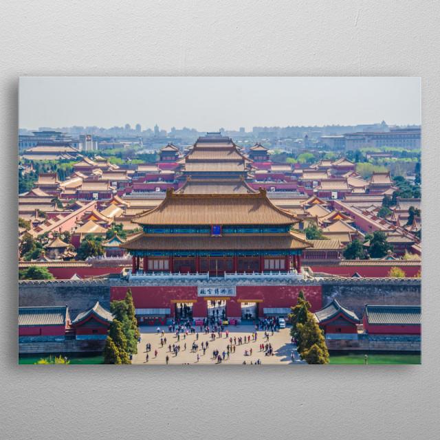 Forbidden City in Beijing metal poster