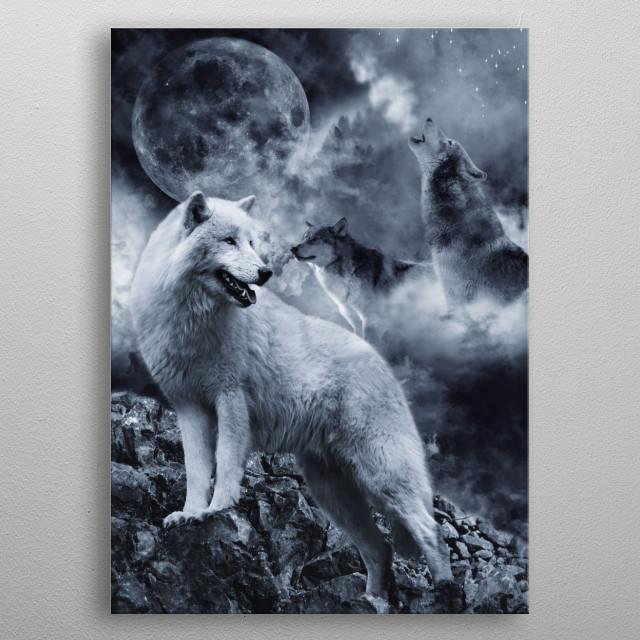 Wolves metal poster