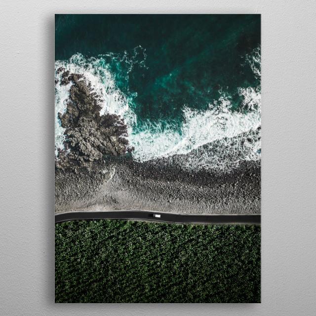 Ocean Road at the Gran Canaria Island, Canaries. metal poster