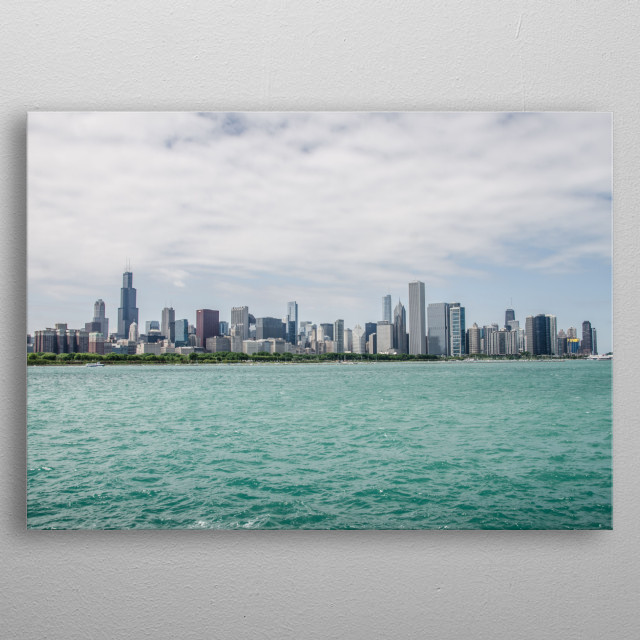 View of the Chicago Skyline metal poster