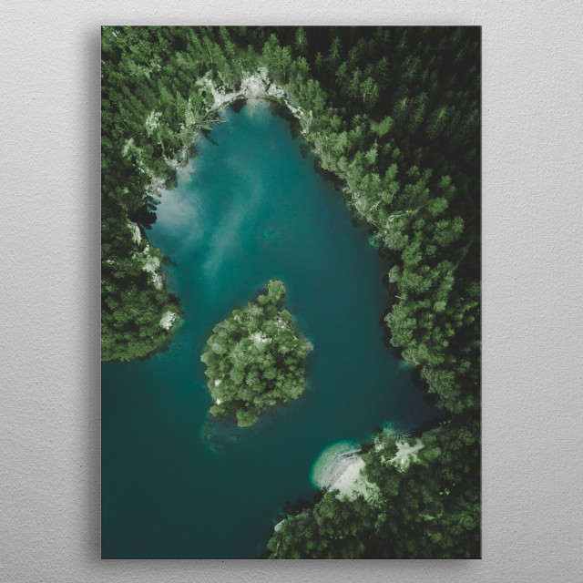A lake Adrspach in north of Czech Republic. metal poster