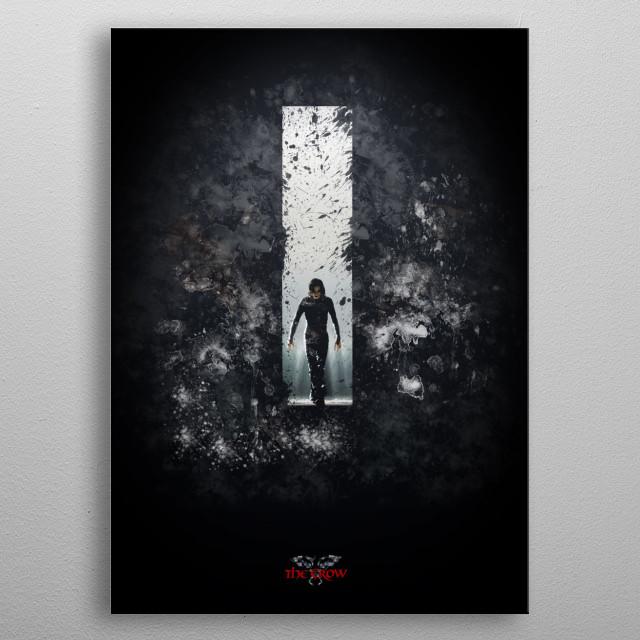 The Crow Splatter metal poster
