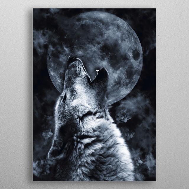 Wolf Moon metal poster