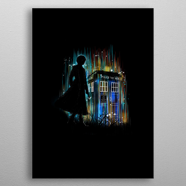 A colorfull tribute to the 13th Doctor Who metal poster