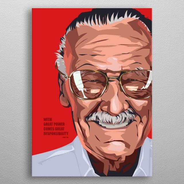 Stan Lee metal poster
