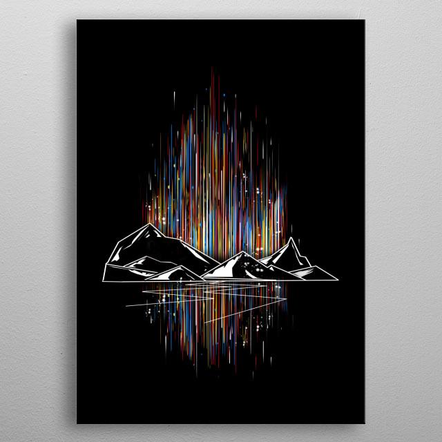 graphic aurora metal poster