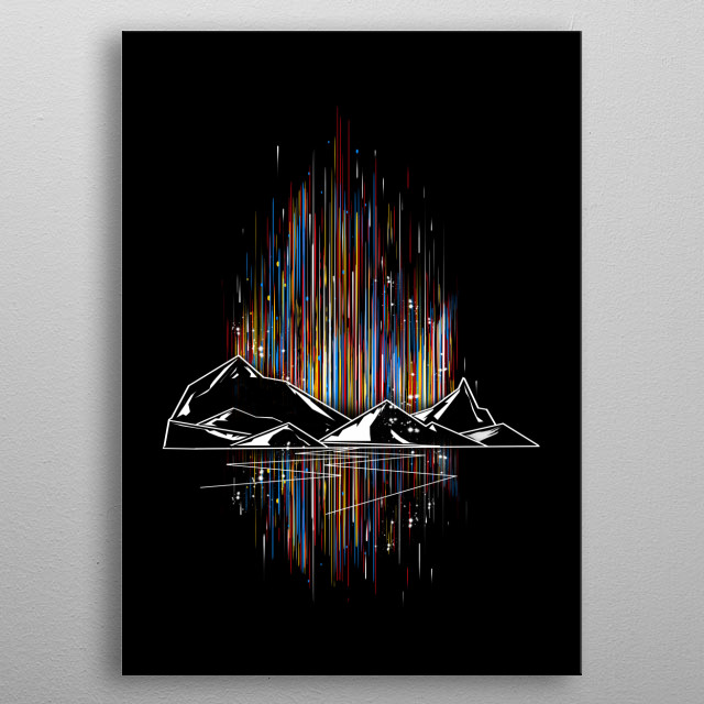 graphic aurora metal poster