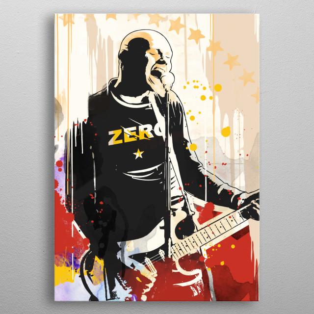 Billy Corgan Pop art style print. metal poster