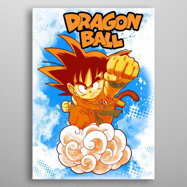 Goku from Dragon Ball. metal poster