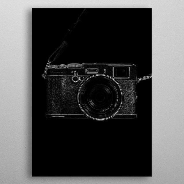Vintage Camera metal poster