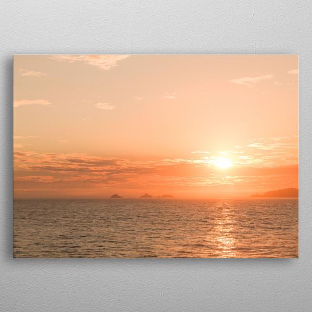 Golden Sunset metal poster
