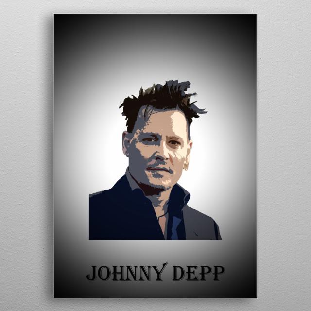 Legendary actors - Johnny Depp metal poster