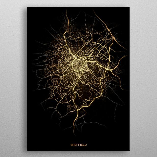 Sheffield, UK metal poster