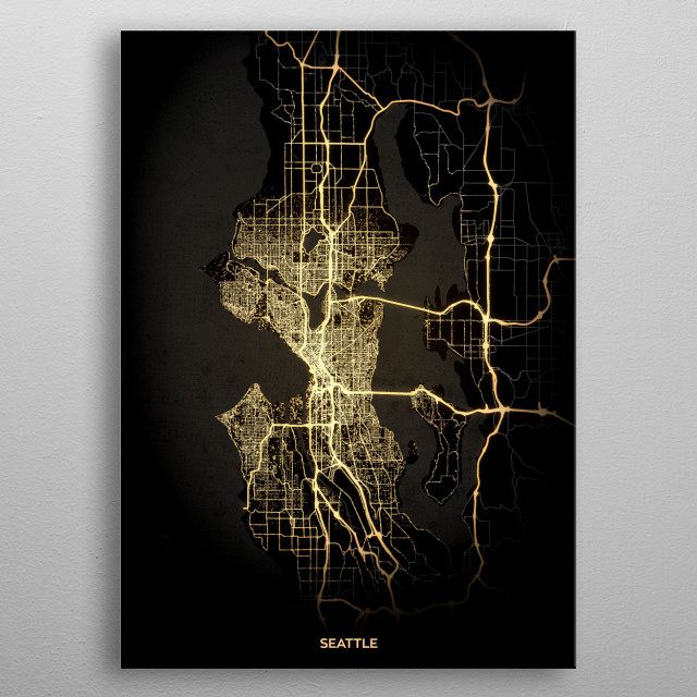 Seattle, USA metal poster