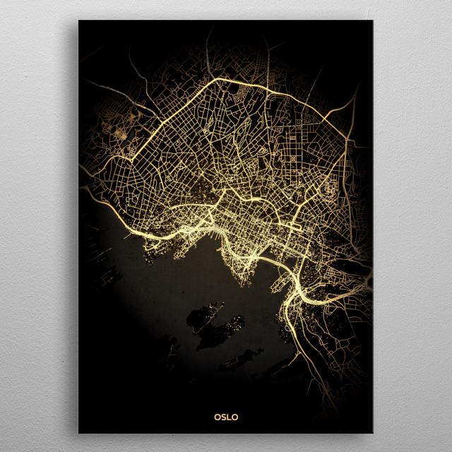 Oslo, Norway metal poster