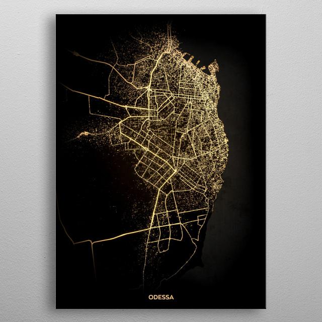 Odessa, Ukraine metal poster