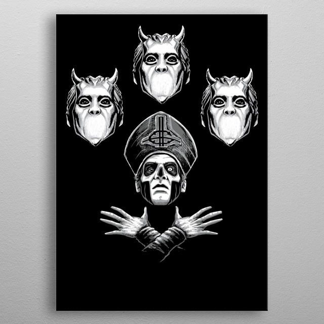 ghost queen style  metal poster
