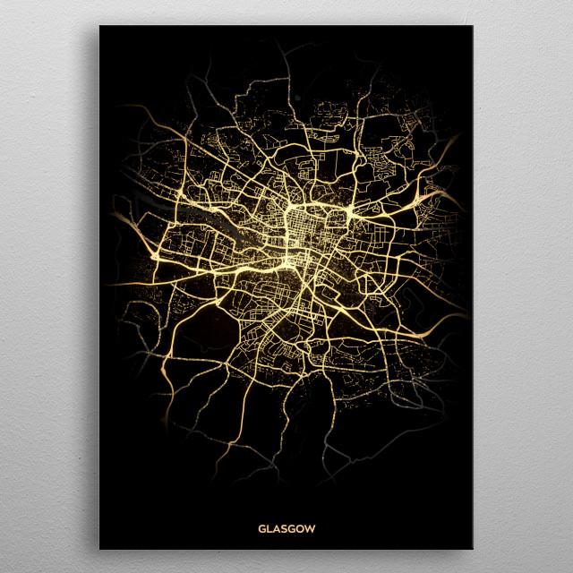 Glasgow, UK metal poster