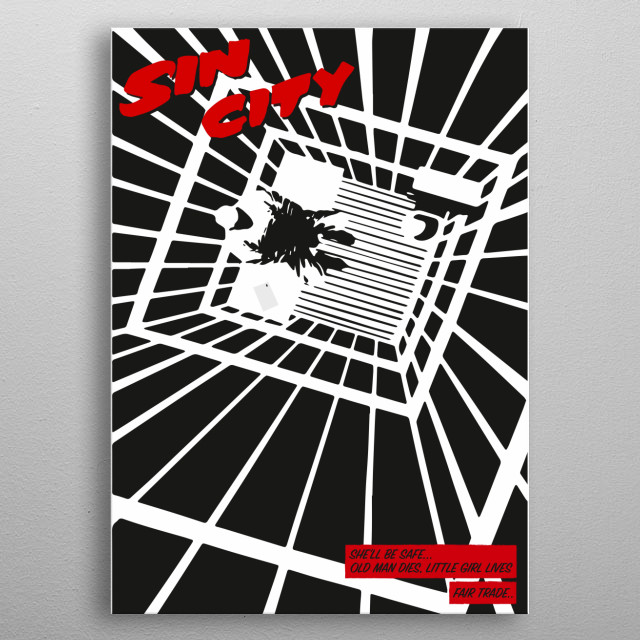 Tribute to Frank Miller masterful Sin City metal poster