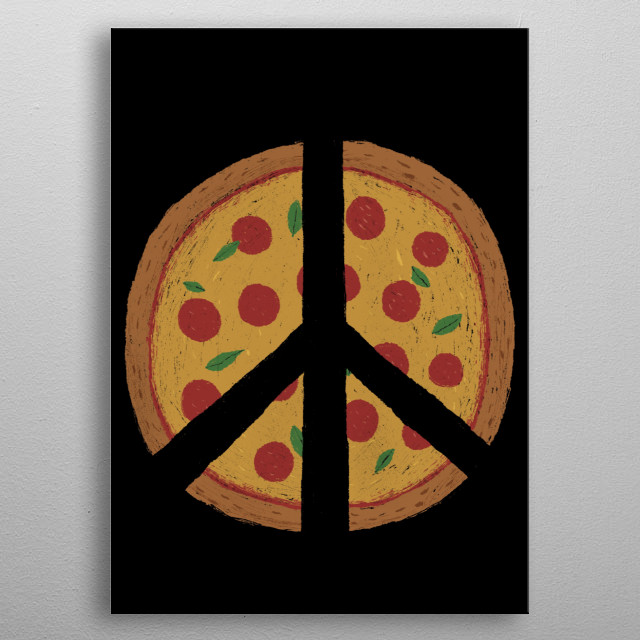 the symbol of peace and food rolled into one! metal poster