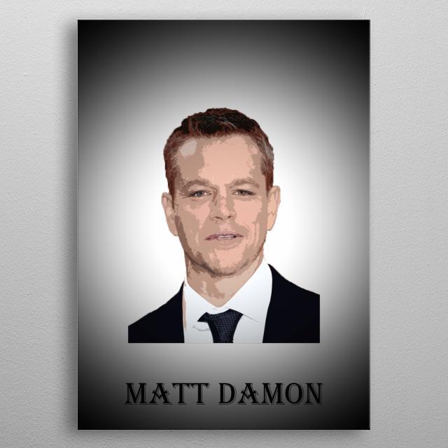 Legendary actors - Matt Damon metal poster