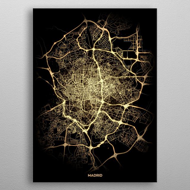 Madrid, Spain metal poster