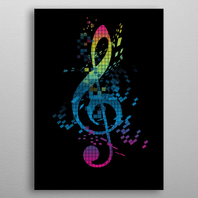 musiic and love are in the air metal poster