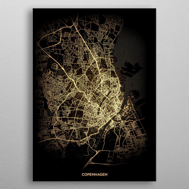 Copenhagen, Denmark metal poster