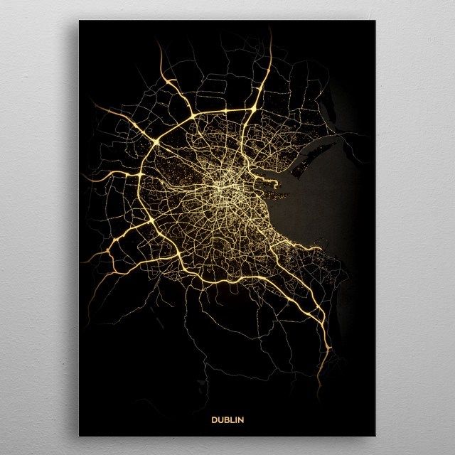 Dublin, Ireland metal poster